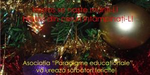 """Asociaţia """"Paradigme educaţionale"""": Hristos se naşte măriţi-L!"""