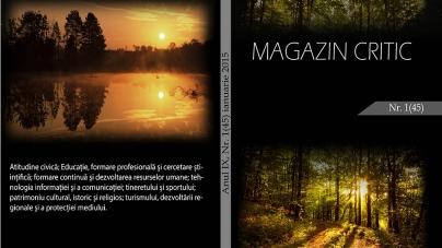 Exclusiv: A apărut noua serie a revistei Magazin Critic, 1(45), ianuarie 2015