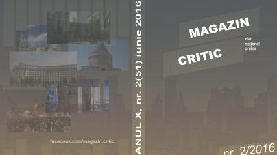 Exclusiv: A apărut numărul 51 al revistei MAGAZIN CRITIC