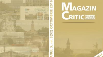 Exclusiv: A apărut numărul 52 al revistei MAGAZIN CRITIC