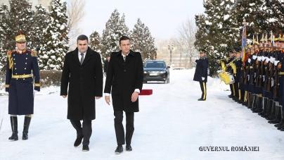 Noul premier, Sorin Mihai Grindeanu, s-a întâlnit astăzi cu ministrul Apărării Naționale