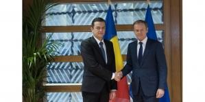 Prioritățile Guvernului României prezentate lui Donald Tusk de premierul Sorin Grindeanu
