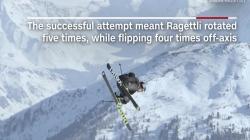 Schi freestyle: Adolescentul Andri Ragettli sfidează gravitația!
