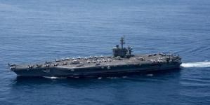 Port-avion american trimis în Marea Japoniei