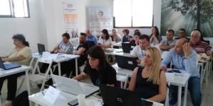 """Echipa noastră reprezintă  """"Paradigme Educaționale"""" în Spania, El Rompido, la Inercia Digital!"""