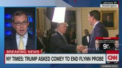 CNN: Trump ia cerut lui Comey să pună capăt anchetei Flynn!