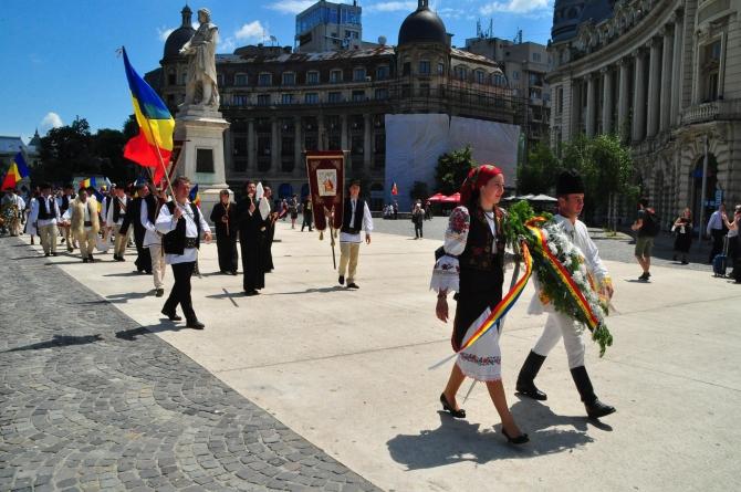Românii din Livezi, Harghita, la București.