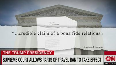 CNN: Curtea Supremă permite ca anumite părți ale interdicției de călătorie să intre în vigoare