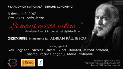 Concert caritabil in memoriam Adrian Păunescu!