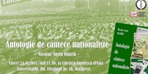 Lansare de carte. Antologie de cântece naţionaliste