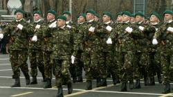 Ceremonia militară și religioasă cu ocazia sărbătoririi Zilei Vânătorilor de Munte la Monumentul Ostașului Necunoscut din  Miercurea Ciuc
