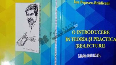 """Recenzie la cartea """"O INTRODUCERE ÎN TEORIA ȘI PRACTICA (RE)LECTURII"""" de Ion Popescu Brădiceni"""