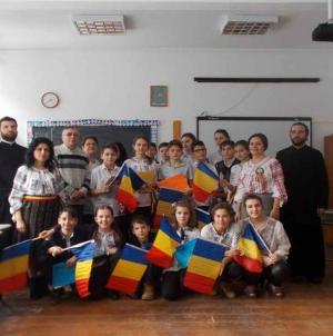 24 Ianuarie pe Calea Neamului la Târgu-Secuiesc.