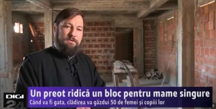 Un preot ridică un bloc pentru 48 de femei însărcinate, mame singure și copiii lor. Video DIGI24 TV