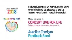 CONCERT LIVE FOR LIVE susținut de Aurelian Temișan și de formația Feedback Band!