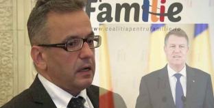"""Liderul CpF, Mihai Gheorghiu: """"Iohannis, principalul oponent al referendumului pentru familie""""."""