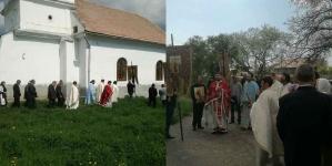 """De """"Sfântul Mare Mucenic Gheorghe"""" la Biserica Ortodoxă din Cernat, lângă Târgu-Secuiesc."""
