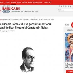 """Simpozionul Naţional """"Constantin Noica"""" găzduit de Arhiepiscopia Râmnicului!"""
