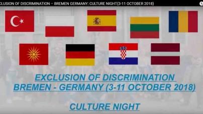 EXCLUSION OF DISCRIMINATION – BREMEN GERMANY (3-11 OCTOBER 2018)