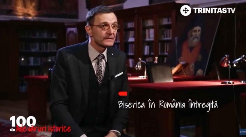 """Președintele Academiei Române, Ioan-Aurel Pop: """"Catedrala Naţională este simbolul unității noastre istorice""""."""