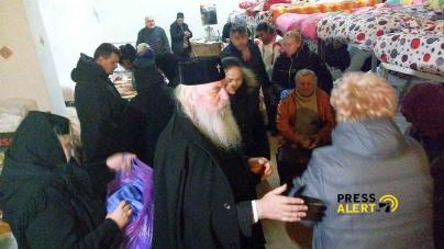Gest caritabil al Înaltpreasfinţitul Părinte Ioan la adăpostul de noapte, de ziua onomastică.