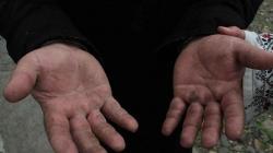 Mâinile unui preot ortodox din Harghita… Cine are ceva de spus despre Sfințiile Lor, să meargă cu noi măcar într-o acțiune din Harghita sau Covasna, să vadă cu propriii ochi ce înseamnă să fii ortodox.