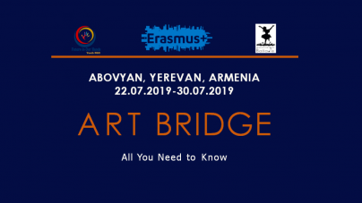 The project will be held 22.07.19-30.07.19 in Armenia. ART BRIDGE