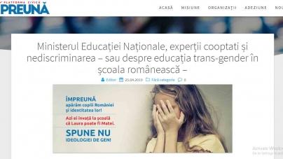 Ministerul Educației sfidează notificarea semnată de 300 de mii de români contra ingerinței ideologiei gender în manualele școlare!
