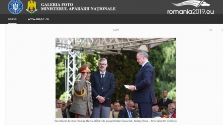 Comunicat MApN: Ceremonia dedicată Zilei Victoriei, la Zvolen