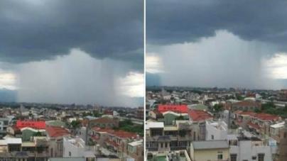Taiwanezii au fost surprinşi de o ploaie bizară, ca şi când s-a făcut brusc o gaură în cer