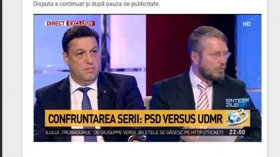 """La """"Sinteza zilei""""! """"Confruntarea serii: PSD versus UDMR""""!"""