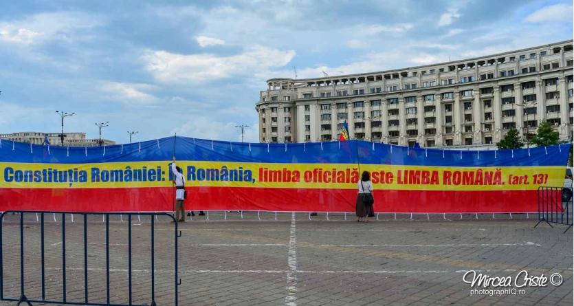 """Art.13 din Constituție: """"În România limba oficială este limba română."""""""