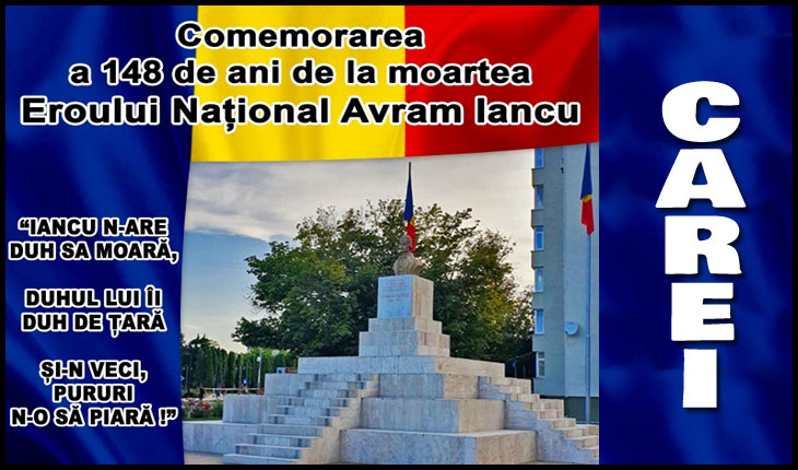 6 septembrie 2020: Comemorarea Eroului Național Avram Iancu la Carei