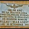 Primele măsurători topografice pentru linia de cale ferată Buzău – Mărășești au fost începute la 13 mai 1879. La 30 octombrie 1881 avea loc inaugurarea primei căi ferate studiată, proiectată și realizată de ingineri români.